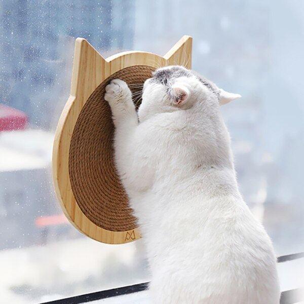 Sisal Đồ Chơi Cho Mèo Cào Ban Gãi Bài Mat Tường Gắn Scratcher Pad Với Núm Hút Cao Su Đồ Chơi Con Mèo Đồ Chơi Chăm Sóc Móng