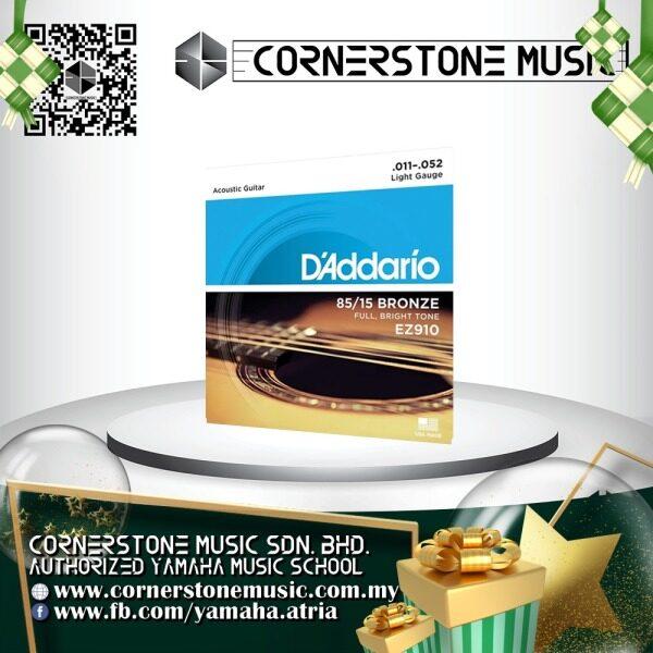 Daddario Acoustic Guitar String EZ910 American Bronze 85/15 11-52 ( EZ 910 / EZ-910 ) Daddario / D addario Light Strings - B / Blue Cornerstone Music Malaysia