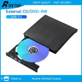 Đầu Ghi DVD Rovtop, Ổ Đĩa Quang Ghi Và Đọc DVD Di Động Bên Ngoài CD DVD-RW Truyền Đầy Đủ Tốc Độ DVD-RW Máy Tính Xách Tay Di Động Gắn Ngoài Có USB 3.0 Ổ Đĩa Loại C thumbnail