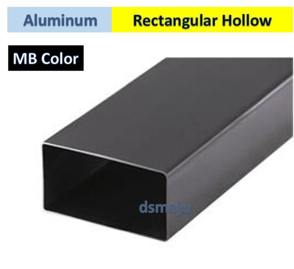 Black Color Aluminum Rectangular Hollow Bar MB Aluminium Hollow Bar Aluminum Hollow