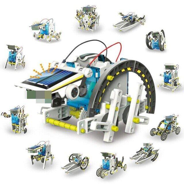 Đồ Chơi STEM 13 Trong 1 Robot Năng Lượng Mặt Trời, Bộ Đồ Chơi DIY, Đồ Chơi Giáo Dục, Thí Nghiệm Khoa Học, Công Nghệ, Đồ Chơi Cho Bé Trai Và Bé Gái