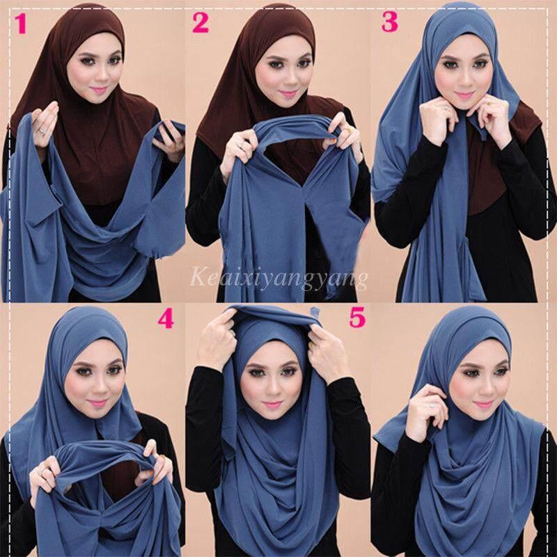 089c95c4247b6 Philippines. SLIP ON Ready to Wear Cotton Jersey Pullover Scarf Hijab  Stretchy Cotton Shawl Muslim Arab Head
