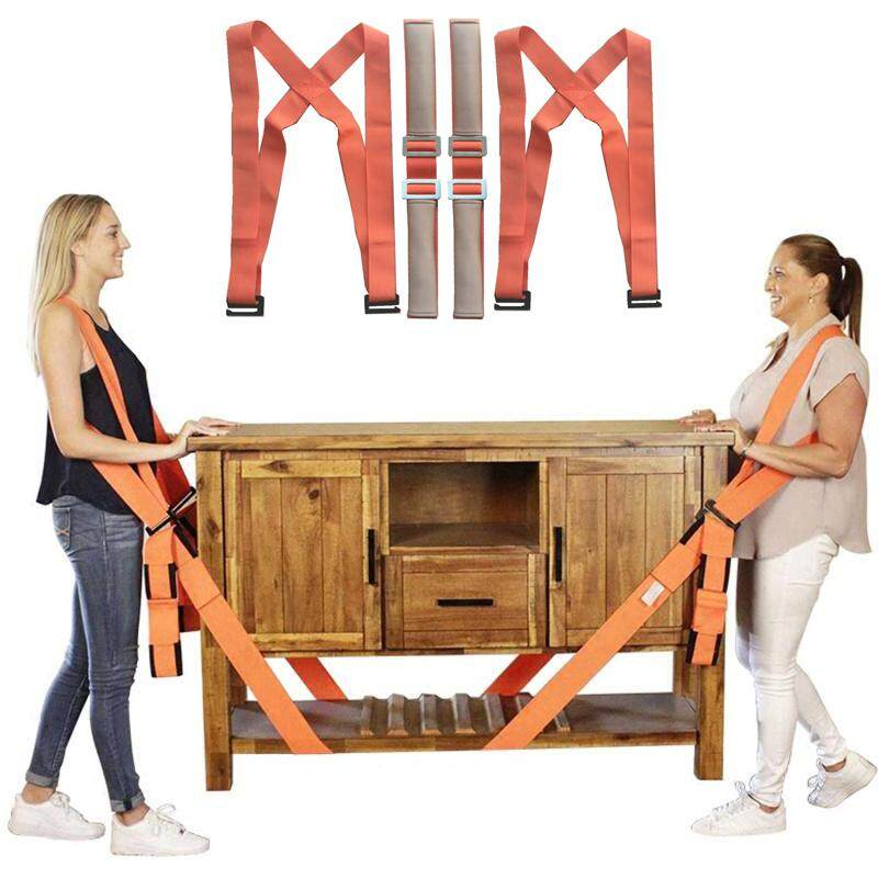 2 Person Shoulder Moving Straps Safety Moving Tools for Carry Furniture, Appliances, Mattresses, or any Heavy Object Safely and Easily