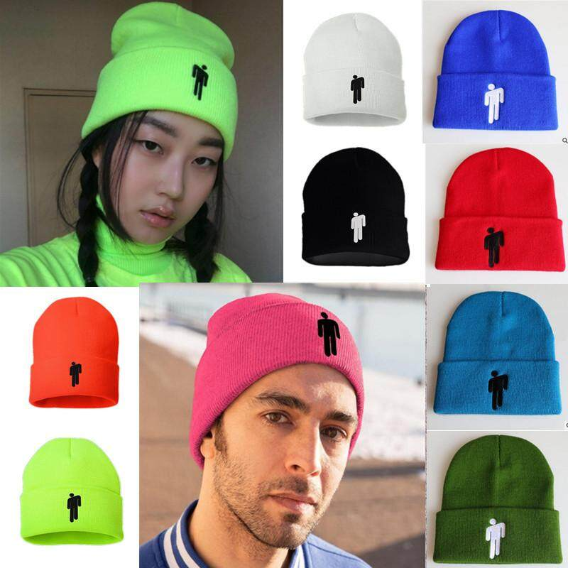 b80377563 Billie Eilish Cap Blohsh Cotton Casual Beanies For Men Women Knitted Winter  Spring Hat Solid Hip