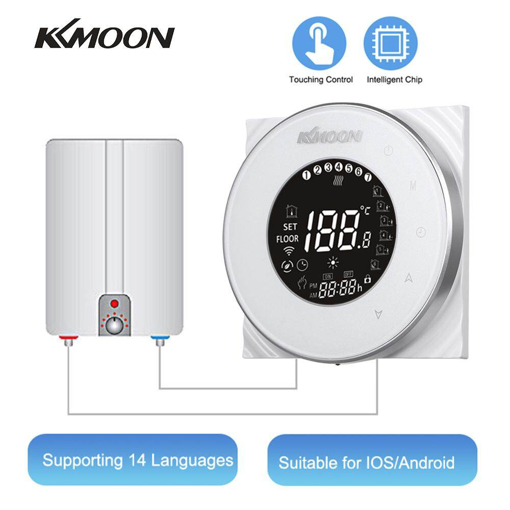 KKmoon Digital Water/Gas Boiler Heating Thermostat Energy Saving AC 95-240V 5A Touchscreen LCD Display Room Temperature Controller