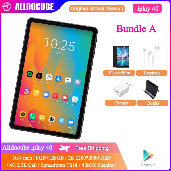 【Newest】Alldocube iPlay 40 10.4 inch 4G LTE Call Tablet PC with 4 BOX speakers, 8GB RAM 128GB ROM Spreadtrum T618, 2*A75 2.0G + 6*A55 2.0G 1200*2000 Android 10.0 Android Tablet