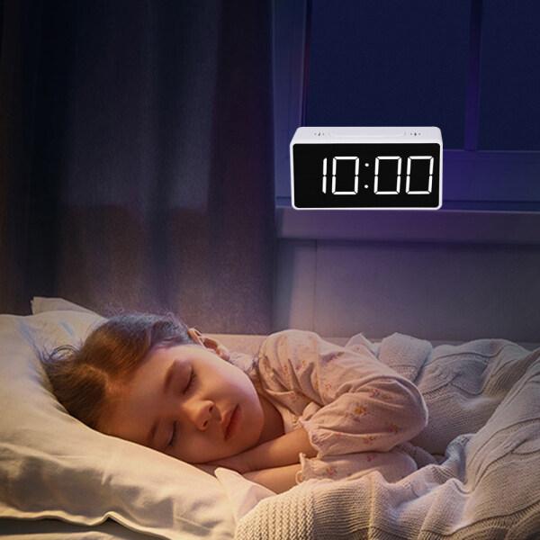 Nơi bán 【Digital Báo Động Clock】Mirror LED Hiển Thị Đồng Hồ Báo Thức Đồng Hồ Để Bàn Đơn Giản Với USB, Cho Trẻ Em 1 Cái
