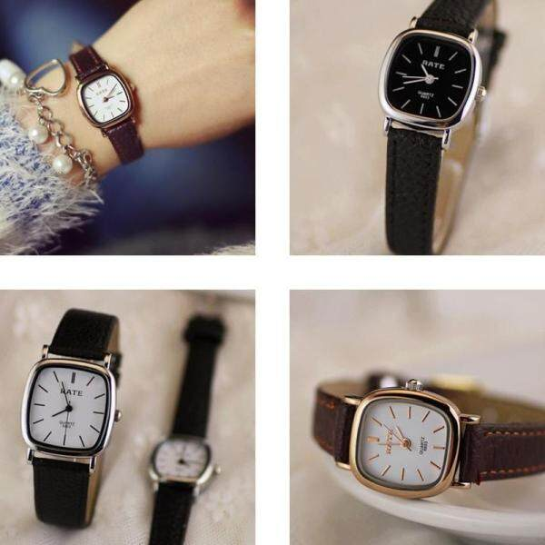 [FAST SHIPPING][LOCAL SELLER] Women Ladies Student Classic Quartz Wrist Watch with Soft Faux Premium Leather Strap Square Dia 22mm exquisite Casual Wrist Watch Malaysia