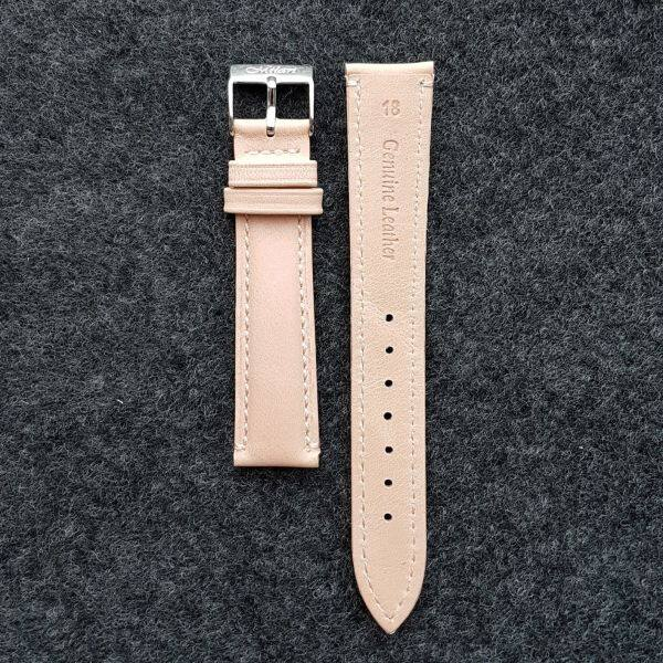 Nude color calf leather watch strap 22mm / 20mm / 18mm / 16mm / 14mm / 12mm Malaysia
