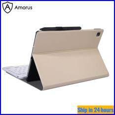 Bàn Phím Amorus Cho Samsung Galaxy Tab S6 Lite, Ốp Lưng Bàn Phím Bluetooth 2 Trong 1 Có Chân Đế Bảo Vệ Bằng Da