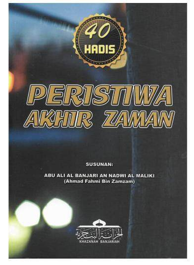 40 Hadis Peristiwa Akhir Zaman By Bookmart Publication.