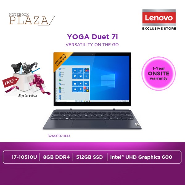 Lenovo Yoga Duet 7 13IML05 82AS007HMJ 13.3 WQHD Touch Laptop Slate Grey ( i7-10510U, 8GB, 512GB SSD, Intel, W10 ) Malaysia
