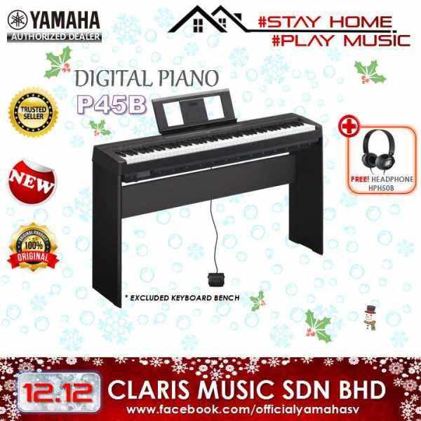 YAMAHA DIGITAL PIANO (MODEL: P45 B) NEW UNIT! Malaysia