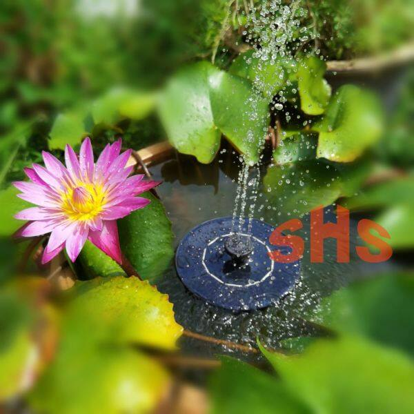 Solar Powered Floating Fountain for Garden Max Height 40 cm For Water Lily Lotus Ponds SHS KEBUN