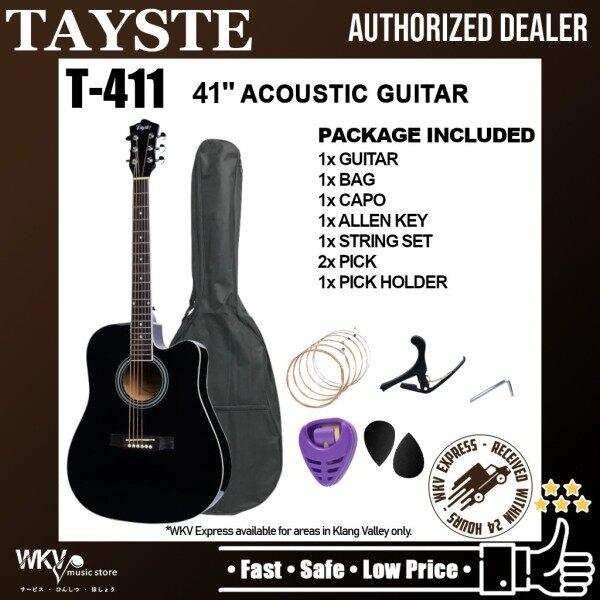 Tayste T411 41 inch High Quality Acoustic Guitar Package (COMBO Set/ Gitar Akustik/ Standard/ Cutaway/ Gitar Kapok) Malaysia