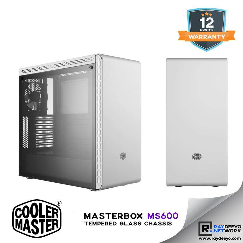 Cooler Master MasterBox MS600 Tempered Glass Chassis (White) [ATX, Matx, Mini-ITX] Malaysia