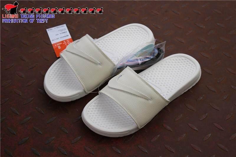 Nike_Benassi_JD Ltd Swoosh Patch Rebranding atau Netral Mengenai Saham Sandal untuk 1 Pria Wanita Musim Panas Kamar Mandi Sandal Sandal Jepit Pantai