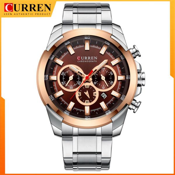CURREN Classic Black Chronograph Mens Watch Sports Quartz Date Clock Male Watch Stainless Steel Wristwatch 8361 Malaysia
