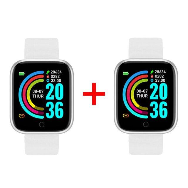 2 Chiếc Đồng Hồ Thông Minh Y68, Tập Thể Dục Tracker, Huyết Áp Smartwatches Đồng Hồ Đeo Tay Thông Minh Bluetooth Theo Dõi Nhịp Tim Chống Nước