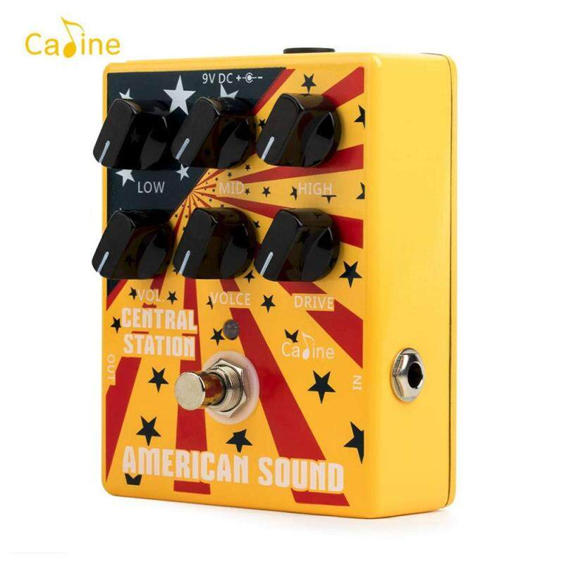 Caline CP-55 Electric Guitar Overdrive Distortion Effect Pedal High Gain 3-Band EQ Aluminum Alloy Housing True Bypass Malaysia