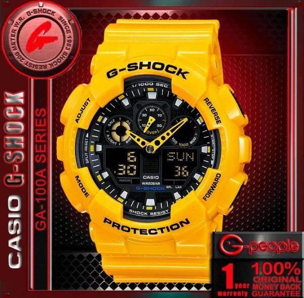 CASIO G-SHOCK GA-100A-9ADR / GA-100A-9A / GA-100A-9 / GA-100A ANALOG DIGITAL WATCH 100% ORIGINAL Malaysia