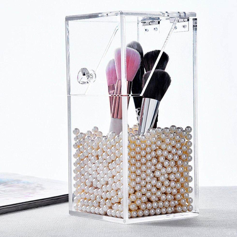 Akrilik Kuas Kecantikan Penutup Penyimpanan Transparan Kosmetik Kotak Penyimpanan Kosmetik Ember Kuas Ember Kuas Kotak Makeup