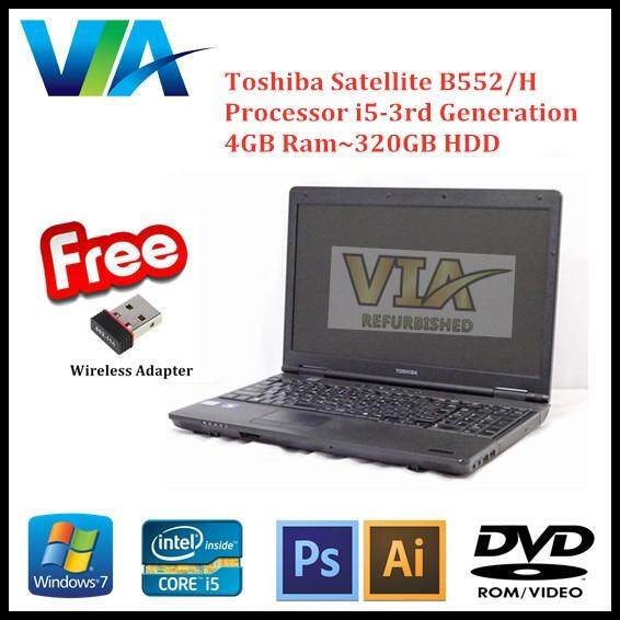 Refurbished Laptop Toshiba B552/H Core i5~4GB~320GB~Win7 Pro Malaysia