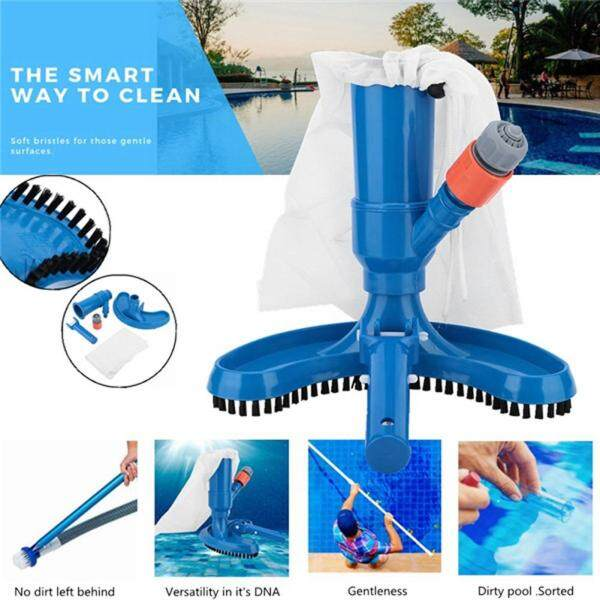 LS [ready stock] Portable Pool Vacuums Mini Jet Underwater Cleaner with Mesh Bag, Brush Head, Handle, Quick Hose Connector (Not Included Hose) for Cleaning Small Swimming Pool, Spa, Jacuzzi, Fountain, Pond And Hot Tub