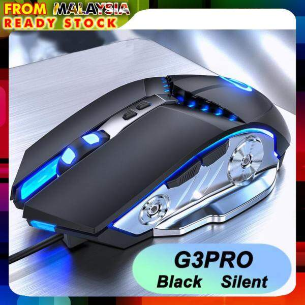 Silver Hawk G3PRO 3200DPI Seven Macro Buttons USB Optical Macro RGB Gaming Mouse Malaysia