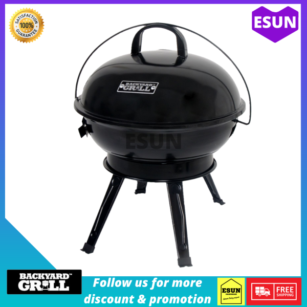 BBQ Grill With Enamel Coating Barbecue Grill and Smoker Thermal Control BBQ Outdoor Picnic