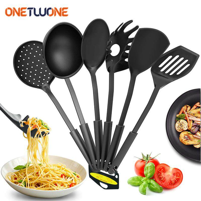 Onetwone 6pcs Plastic Cold Dish Only Appetizers For Plastic Kitchenware Culinary Nonstick Cookware Set Cooking Tools Shovel Colander Spatula Spoon Spaghetti Tools Cooking Set By Onetwone.