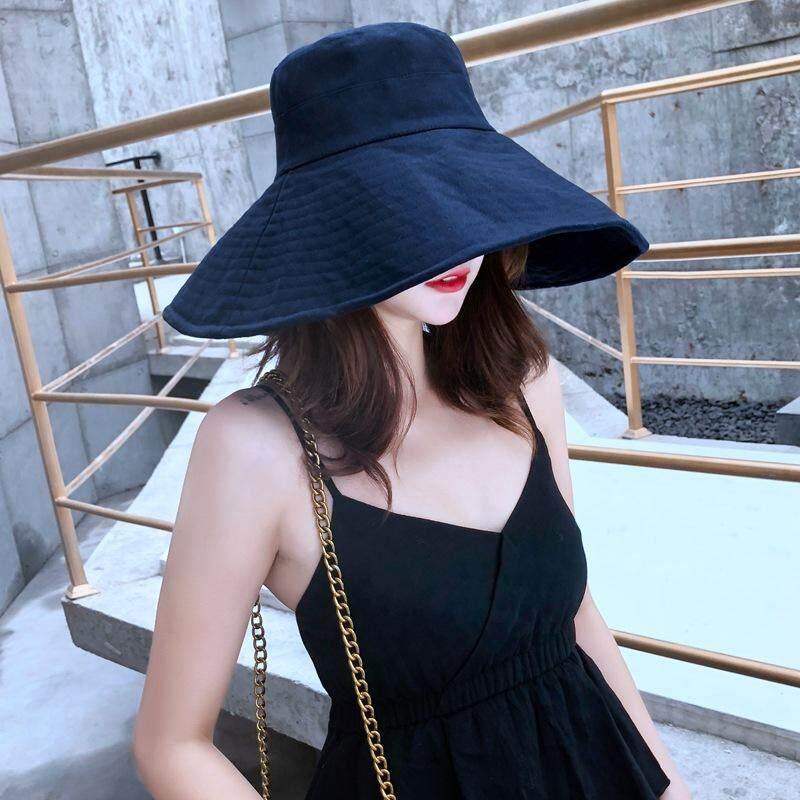 79dba3f8a91a98 2019 New Explosion Models Ladies Fisherman Hat Summer Outdoor Sun  Protection Sunscreen Folding Sun Hat Sun