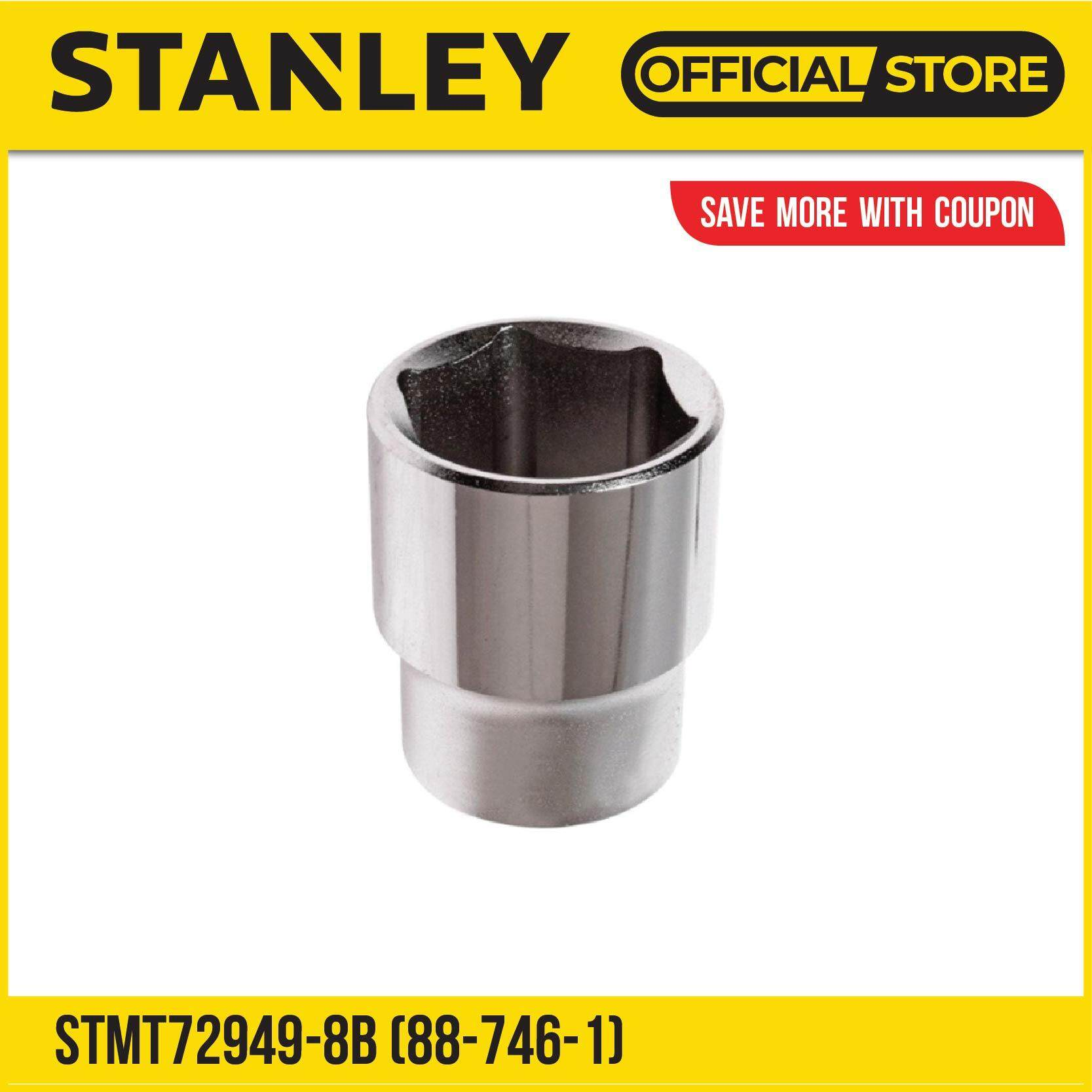 Stanley STMT72949-8B 6 Point Standard Socket-Metric 1/2 Dr 24mm (Silver)
