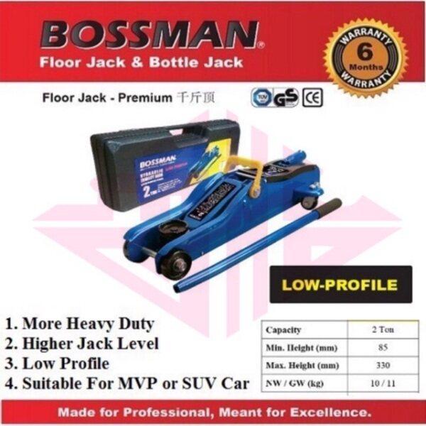 EEHIONG1977 Bossman B-TA82001 BTA82001 Heavy Duty 2 Ton Low Profile Hydraulic Floor Jack 液压 千斤顶 卧式液压千斤顶 承载量2吨