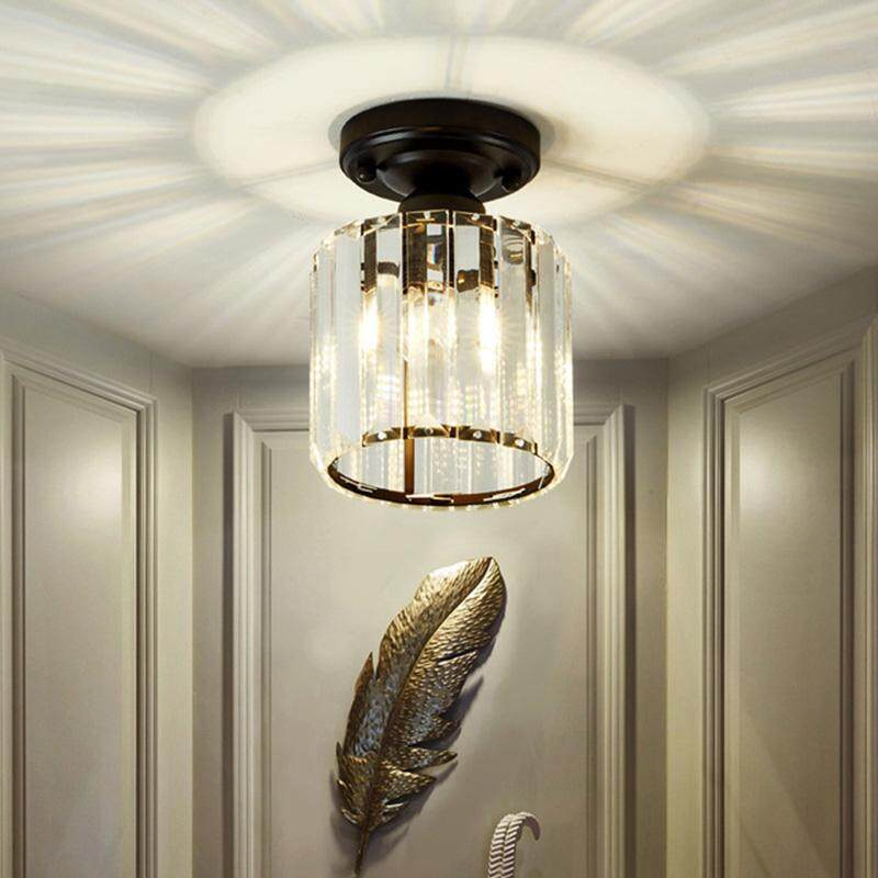 American Simple Crystal Ceiling Light Corridor Lantern Hallway Lights