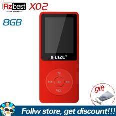 Original RUIZU X02 English version Ultrathin MP3 Player 4GB 8GB 16GB Portable Music Player With 1.8 Inch Screen Support FM Radio Recording Video Player E-book Mini Walkman