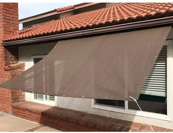 Sun Shade Sail Mesh Canopy balcony Awning Privacy Screen High Quality 90% Anti-UV Sunshade Net Thicken Balcony Safety Fence Net Terrace Cover Sun Shade Nets awning roof outdoor