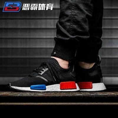 ยี่ห้อไหนดี  อำนาจเจริญ ✨คลังสินค้าพร้อม✨【 Stock】100 % รองเท้า Adidas NMD_R1 Primeknit OG สีดำ/สีขาว/R