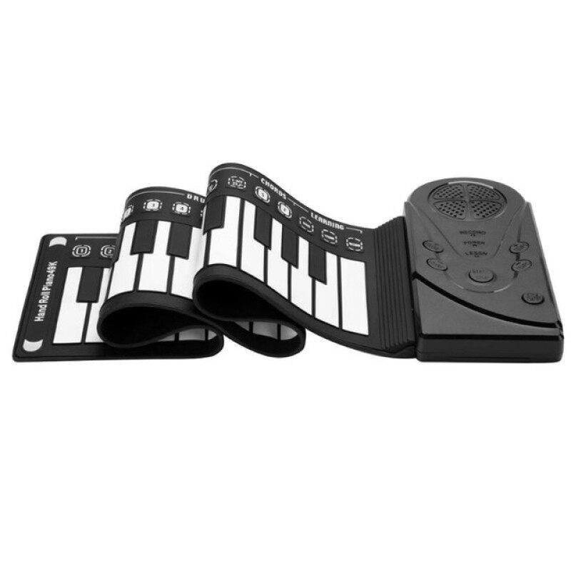 49 Key Flexible Silicone Roll Up Piano Folding Digital Keyboard Piano With Speaker For Children Student Musical Instrument Malaysia