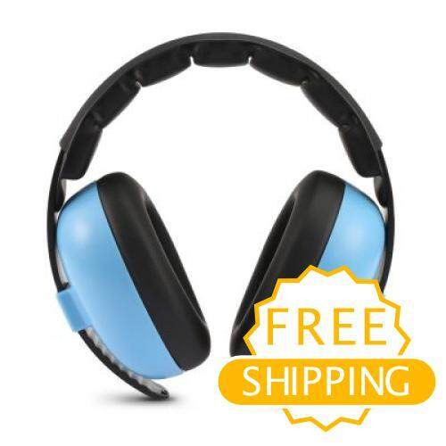 Baby Earmuffs Headset Anti-Noise Child Kid Hearing Protection Ear Defenders (day Sky Blue) By Nuaque Store.