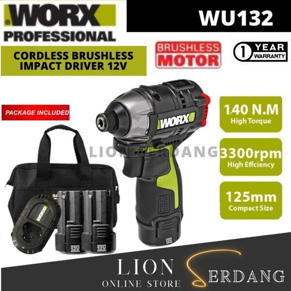 Worx wu132 cordless brushless impact driver 12v
