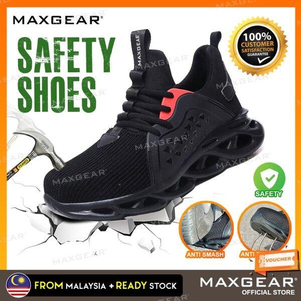 MAXGEAR Safety Shoes Steel Toe Cap Breathable Lightweight Sport Kasut Safety Boots Anti Smash Anti Slip Kasut Kerja Kasut Keselamatan