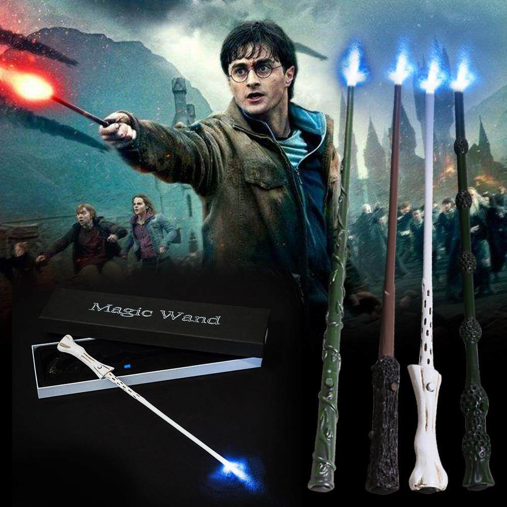 GL For Harry Potter Glowing Wand Built - in Steel Core Sturdy Children's toys Christmas Halloween Role - playing Props