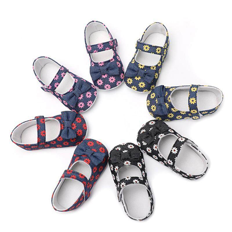 Baby Girl Flower Printing Non-slip Breathable Shoes ❤ BW