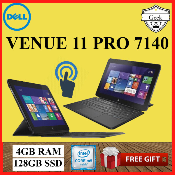 Dell Venue 11 Pro 7140 -Touchscreen - Core M5-5th Gen - 4GB RAM - 128GB SSD - 10.8 Inch - With Soft Keyboard Malaysia