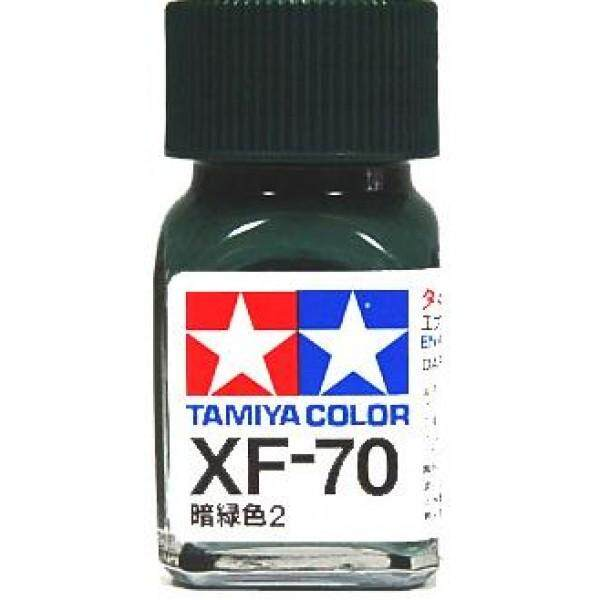 Tamiya Color Enamel Paint XF-70 Dark Green 2 (10ML) Lacquer Paint for Gundam model kits Lacquer Paint for Gundam model kits