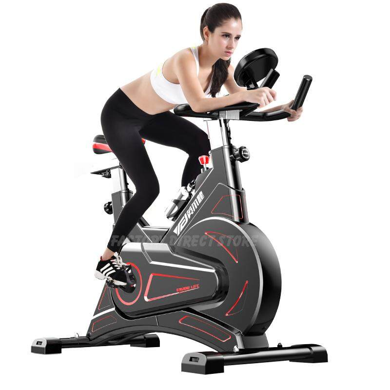 YINGERJAN QM300 Commercial Quality Super Silent Stainless Steel Dynamic Flywheel Exercise Bike Cycling Indoor Workout Fitness