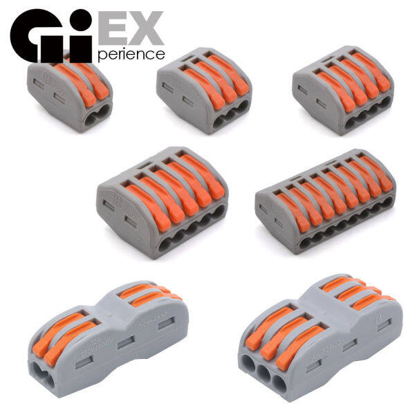 10 Pieces / 1Lot Mini Fast Universal Compact Wire Wiring Wago Car Connector & Set Conductor Terminal Block Solar Energy Easy Quick