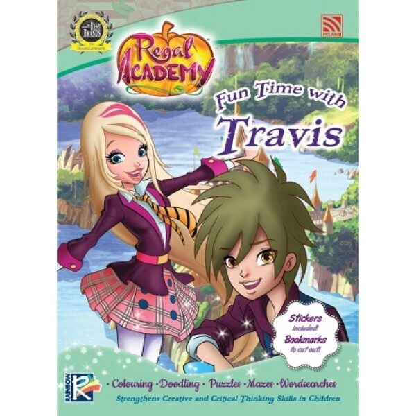 REGAL ACADEMY(WITH STICKERS, COLOUR BOOK) - FUN TIME WITH Travis Pelangi Publishing Malaysia