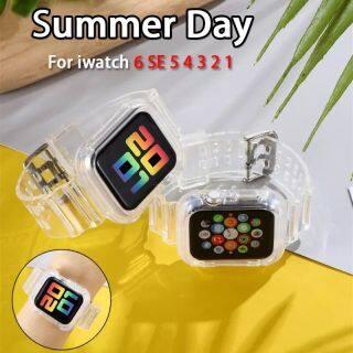 Dây Đeo Cổ Tay Dây Đeo Thể Thao Trong Suốt Bằng Silicon Mới Nhất 2020 Cho Đồng Hồ Apple 3 2 1 38Mm 42Mm Cho I Watch 6 SE 5 4 40Mm 44Mm thumbnail